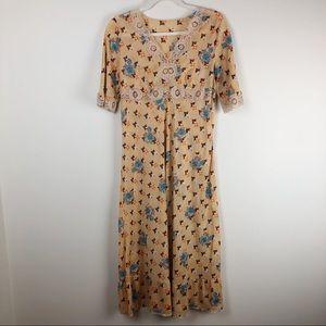 Vintage Italian 70s Floral Geometric Nightgown